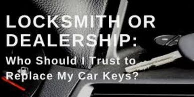 Locksmith for replacement car keys
